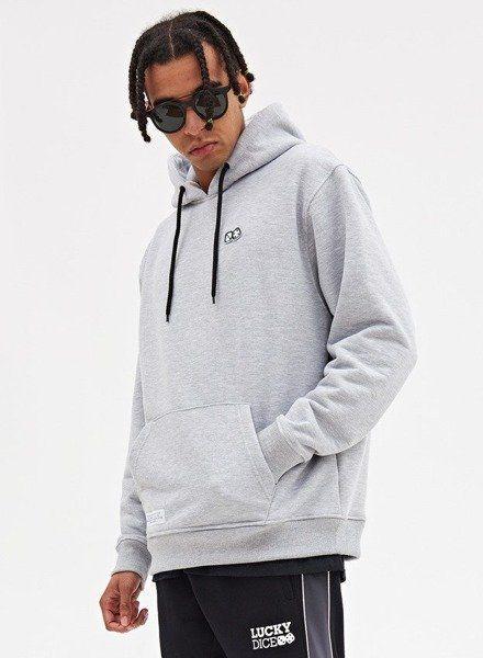 Bluza lucky dice hoodie basic dice (grey)