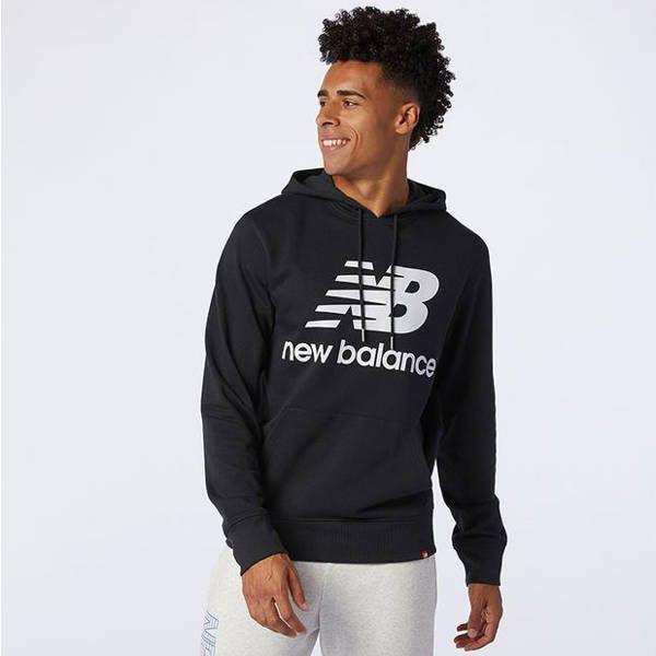 Bluza new balance hoodie essentials stacked logo (mt03558bk) black