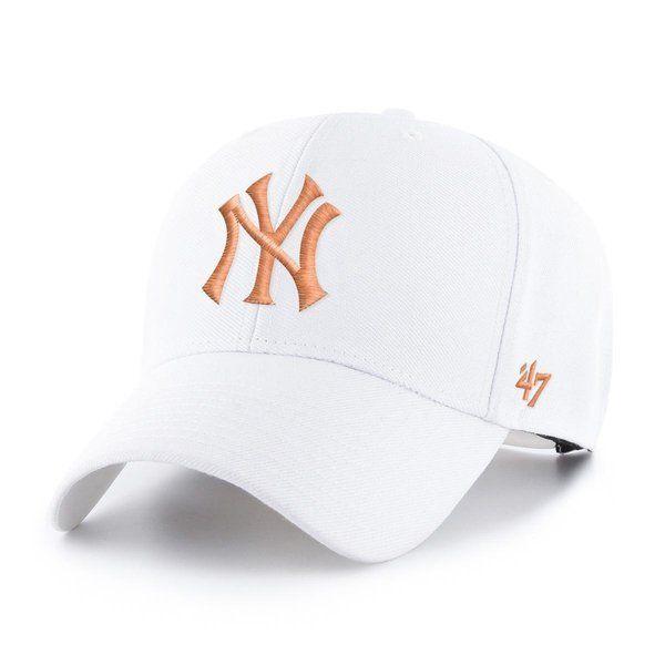 Czapka 47' mlb new york yankees mvp white/orange
