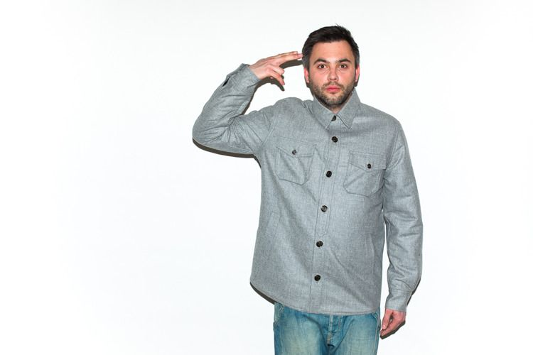 Koszula flatrock clothing grey