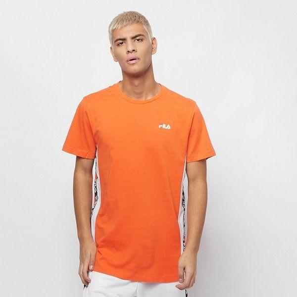 Koszulka fila men tobal (687709-a485) mandarinorange-bright white