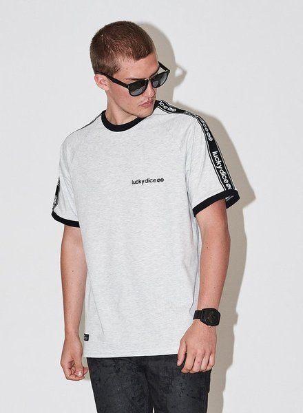Koszulka lucky dice logo tape (grey)