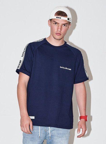 Koszulka lucky dice logo tape (navy)