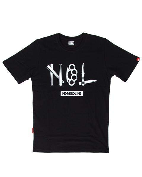 Koszulka new bad line crime black