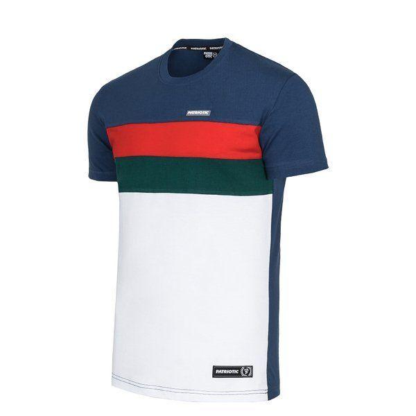 Koszulka patriotic futura mini 2-slices white/navy
