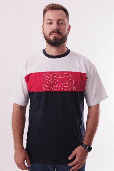 Koszulka ssg triple outline biaŁy czerwony