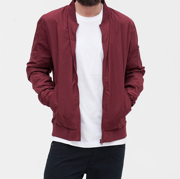 Kurtka urban classic light bomber jacket burgundy