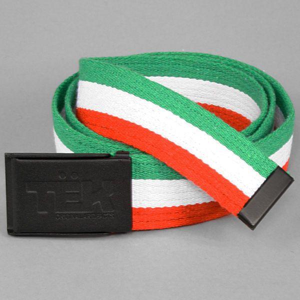 Pasek teknik classic green/white/red