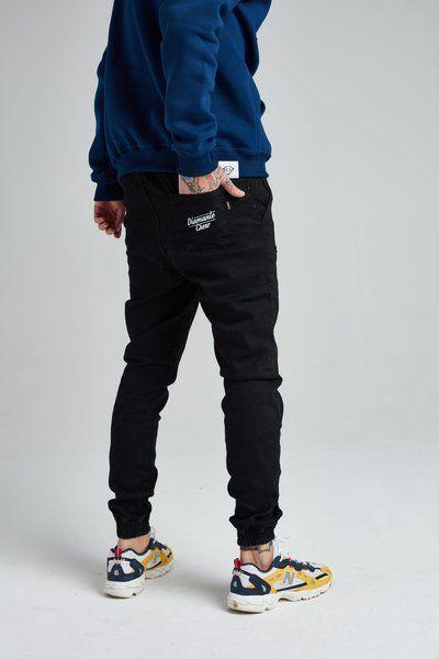 Spodnie diamante wear jogger  'diamante crew' jeans black