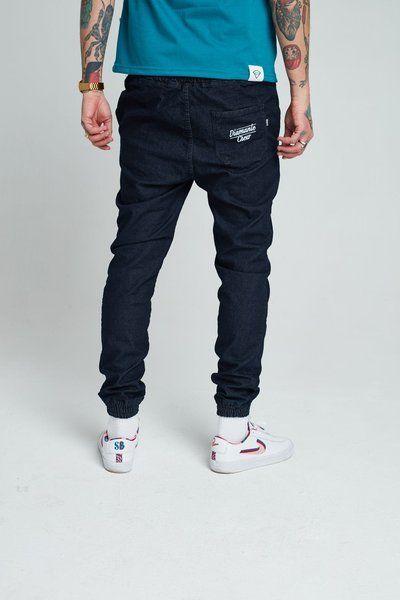 Spodnie diamante wear jogger ripped dark blue
