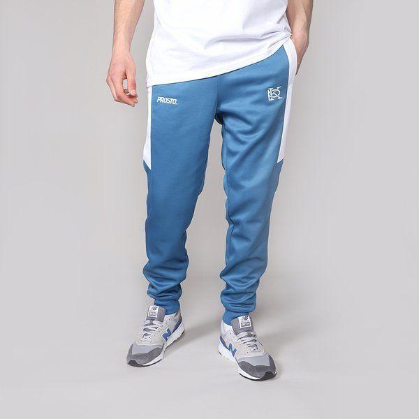 Spodnie dresowe prosto trackpants benz blue
