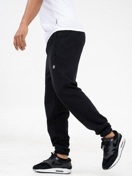 Spodnie elade dresowe icon patch czarne