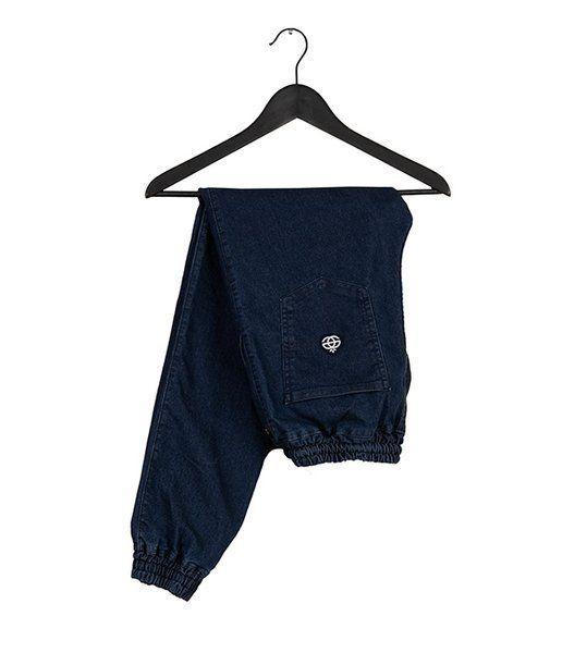 Spodnie elade jogger icon mini logo blue denim