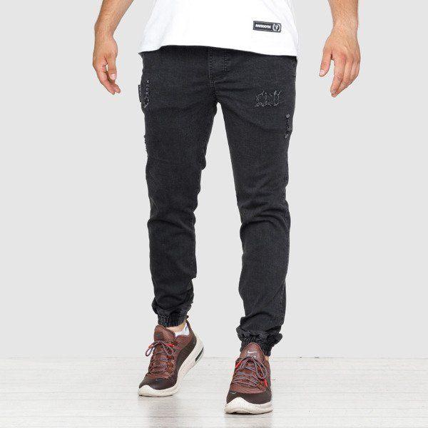 Spodnie grube lolo jogger black jeans