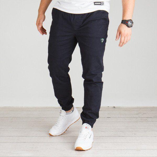 Spodnie grube lolo jogger (granat)