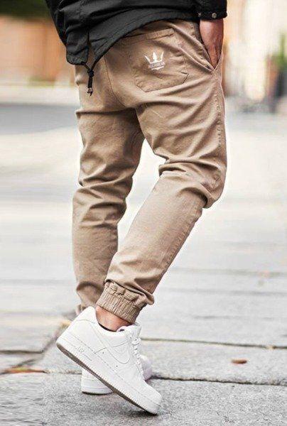 Spodnie jigga wear jogger crown beige