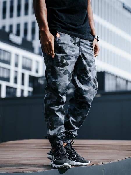 Spodnie jigga wear jogger crown blue camo