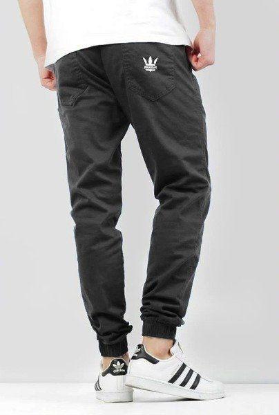 Spodnie jigga wear jogger crown grey