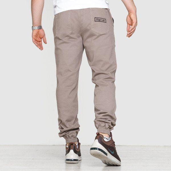 Spodnie jogger high life hl haft beige
