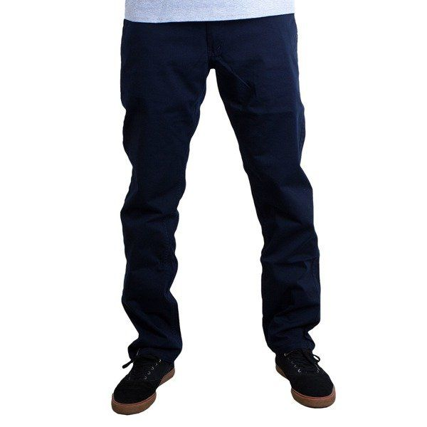 Spodnie malita chino low chino low navy/dots
