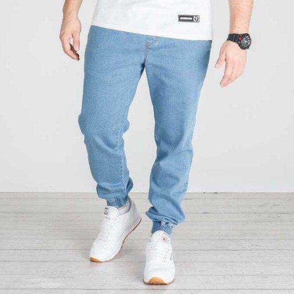 Spodnie nasa hustla jogger jeans light blue