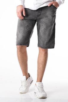Szorty ssg jeans logo lampas szary jeans