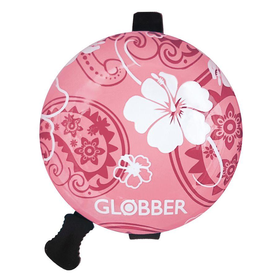 Dzwonek do hulajnogi Globber Flowers różowy kwiaty