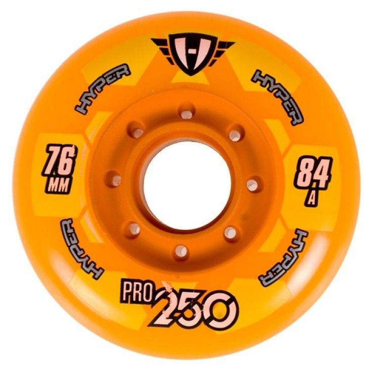 Kółka hokejowe hyper pro 250 84a pomarańczowy