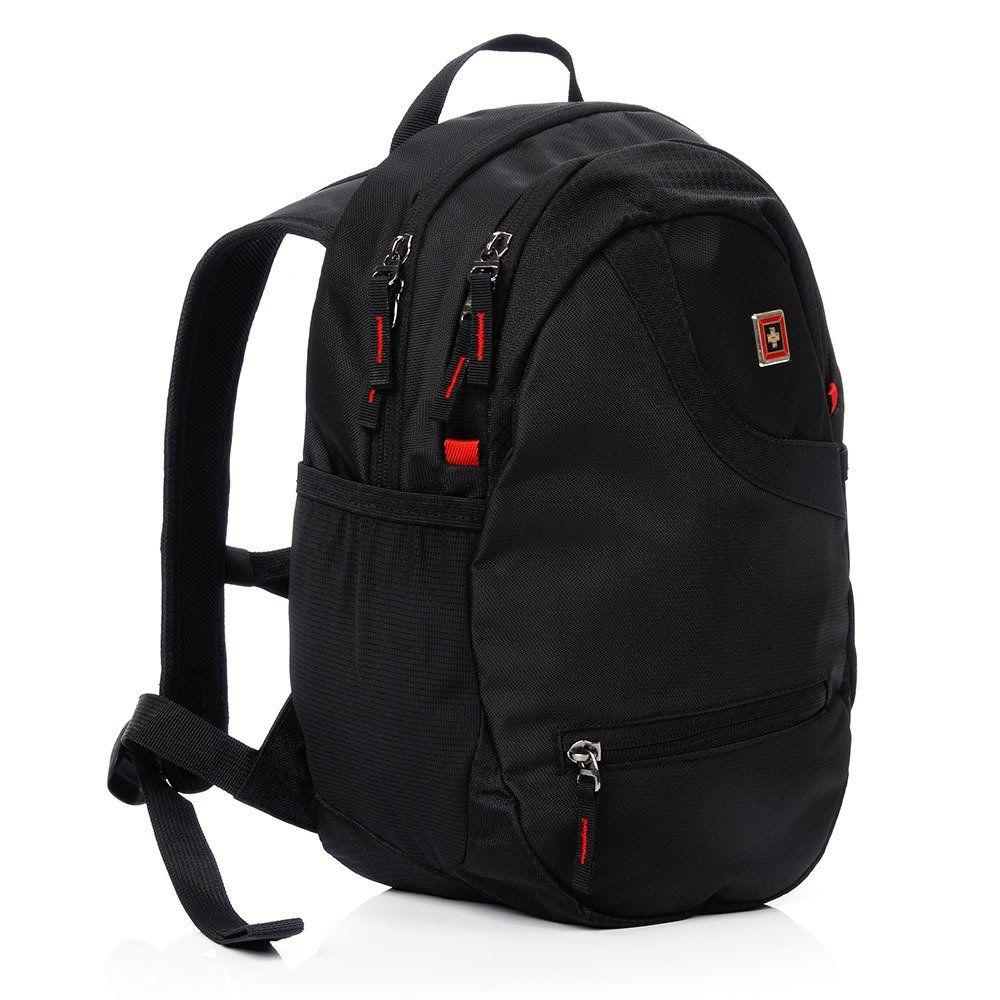 Plecak miejski SwissBag+ Nendaz 15L czarny