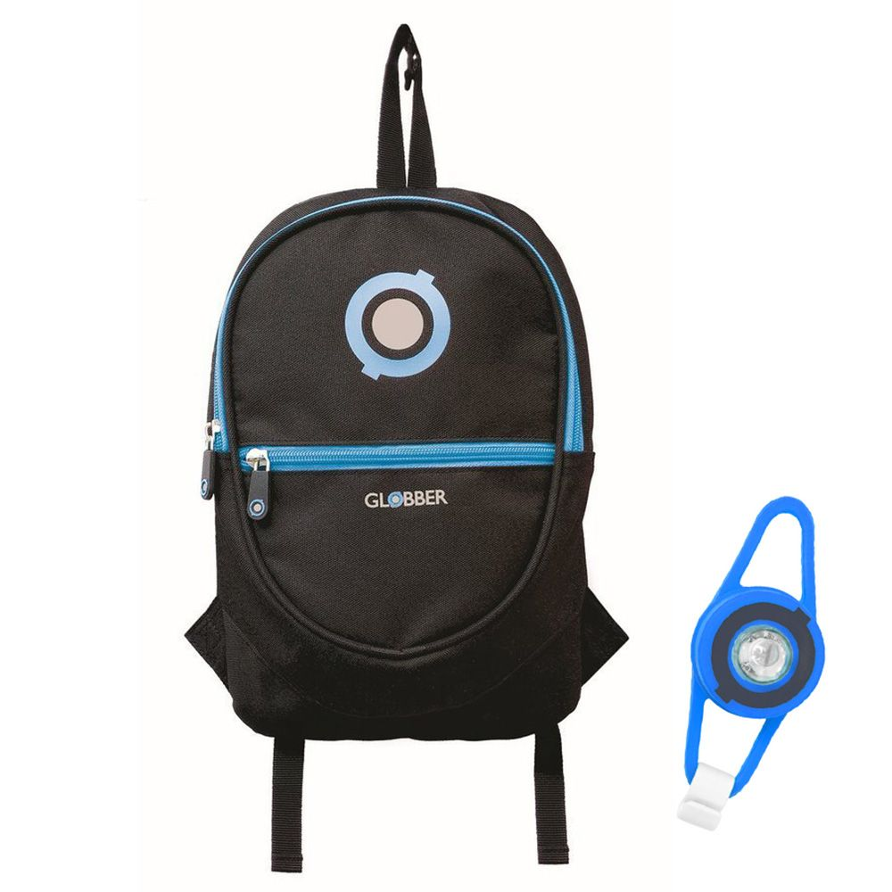 Plecak na hulajnogę Globber czarny 4L + Lampka