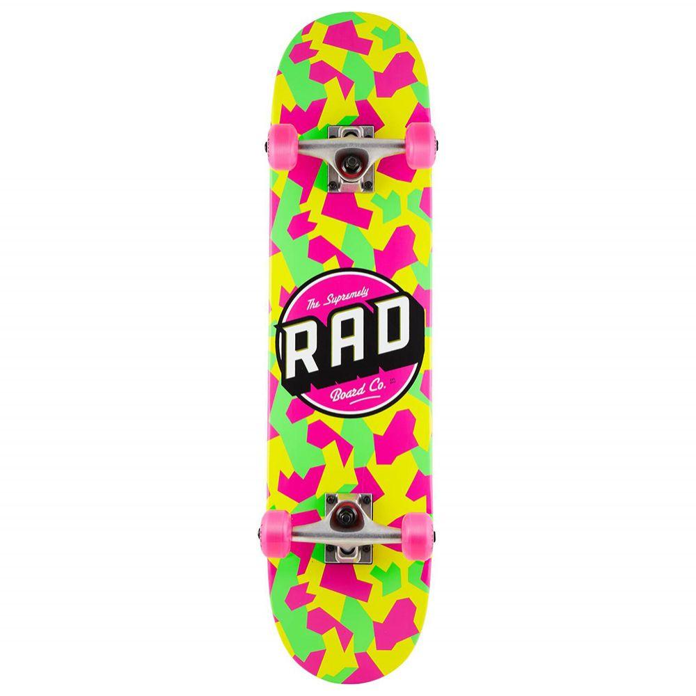 Deskorolka Kompletna RAD Dude Crew 7.5 Neon Camo