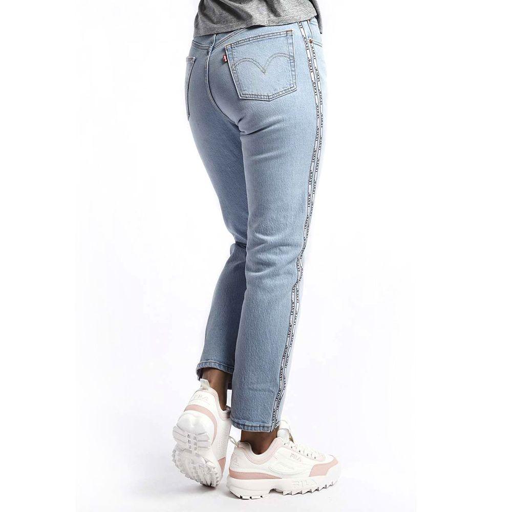 Spodnie Levis 501 CROP JEANS indigo błękitne